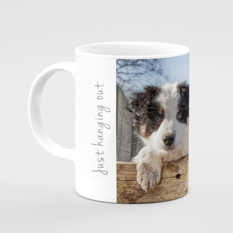 Border Collie Pups Mug - Just Hanging Out - Kitchy & Co