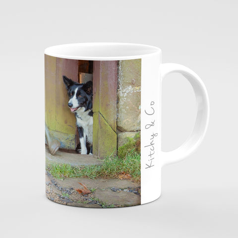 Border Collie Mug - No muddy feet - Kitchy & Co
