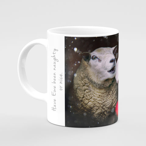 Christmas Mug - Have Ewe been Naughty or Nice - Kitchy & Co
