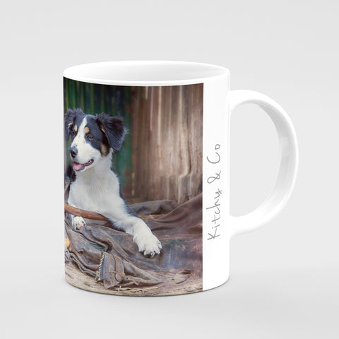 Working Sheepdog Mug - Shepherds new helper - Kitchy & Co