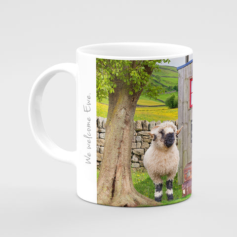 Valais Blacknose Sheep Mug - We Welcome Ewe - Kitchy & Co
