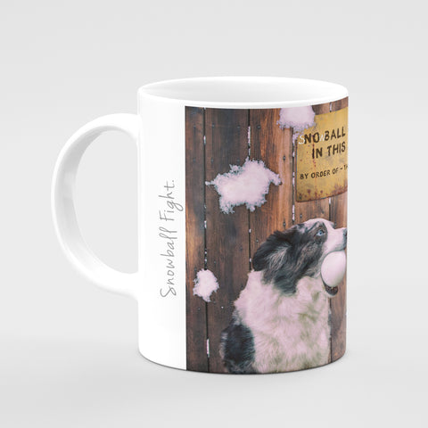 Christmas Mug - Snowball fight - Kitchy & Co