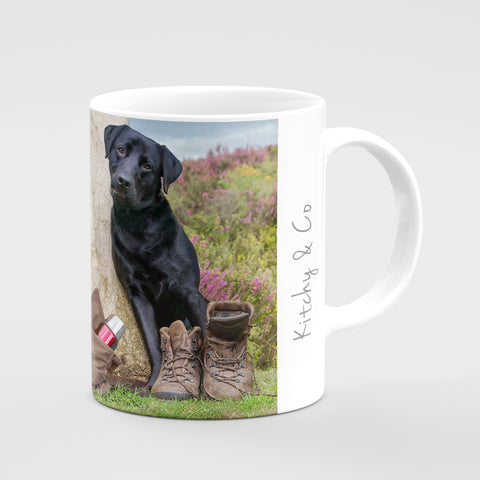 Black Labrador Mug - Which way would you go ? - Kitchy & Co