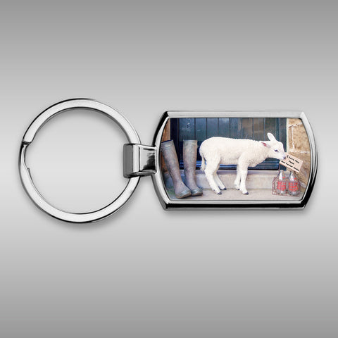 Sheep Keyring _ 2 extra pints please - Kitchy & Co