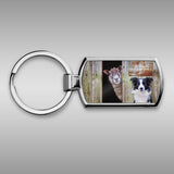 Border Collie and sheep Keyring - Look Out ! She's behind Ewe - Kitchy & Co