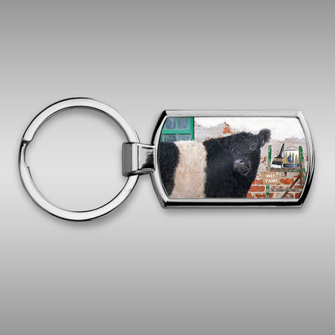 Belted Galloway keyring
