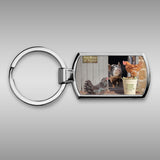 Pig and hen keyring