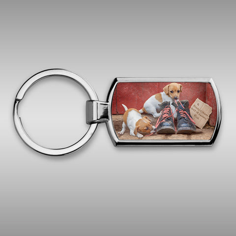 Jack russell Keyring - New laces for old boots - Kitchy & Co