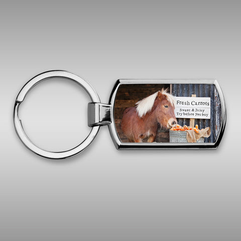 Shetland pony Keyring - Try before you buy - Kitchy & Co