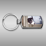 Border Collie pup Keyring - Are we nearly there yet ? - Kitchy & Co