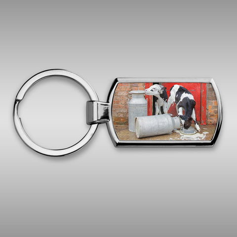 Dairy calves Keyring - Double trouble at the dairy - Kitchy & Co