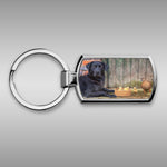 Black labrador and ducks Keyring - Kitchy & Co
