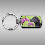 Labrador and Butterfly Keyring - Take time to smell the flowers - Kitchy & Co