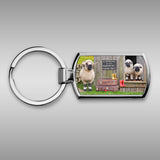 Valais blacknose sheep and Shepherds Hut Keyring - We welcome Ewe - Kitchy & Co