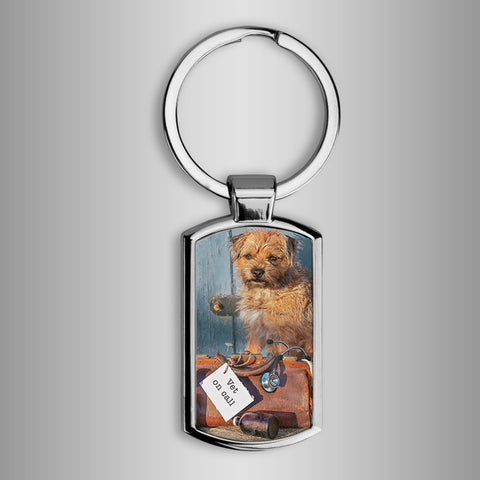 Border terrier Keyring - Vet on call - Kitchy & Co