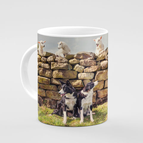 Pet Lambs and Sheepdog Mug - Cheeky pet lambs - Kitchy & Co