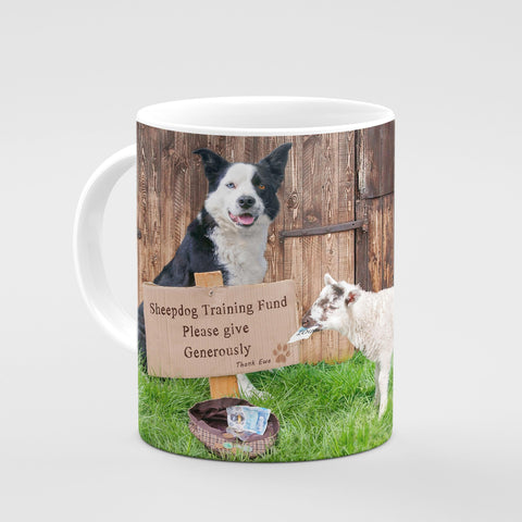 Sheepdog Training Mug - Please give generously - Kitchy & Co