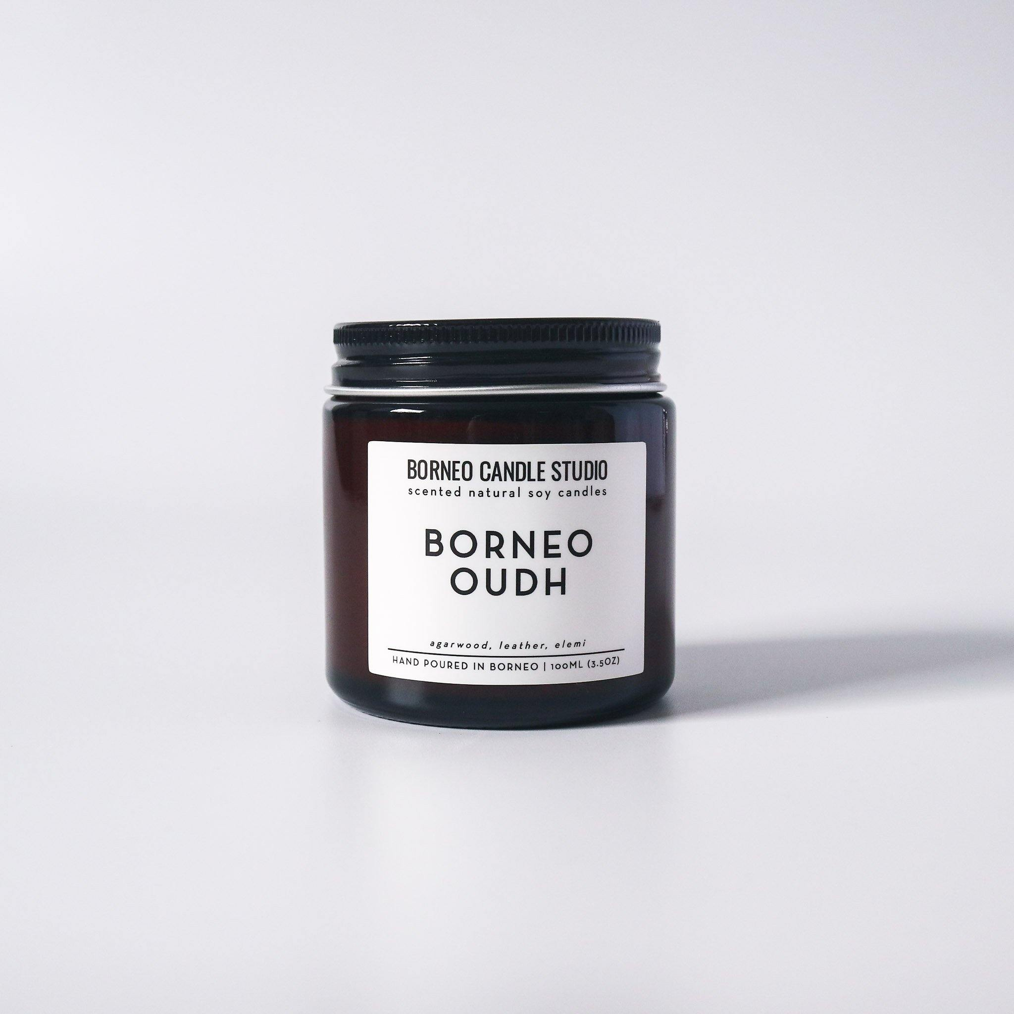 Borneo Oudh Soy Candle - agarwood, leather, elemi