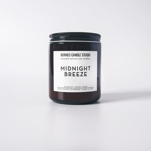 Midnight Breeze | Soy Candle - Borneo Candle Studio bergamot, leather, musk