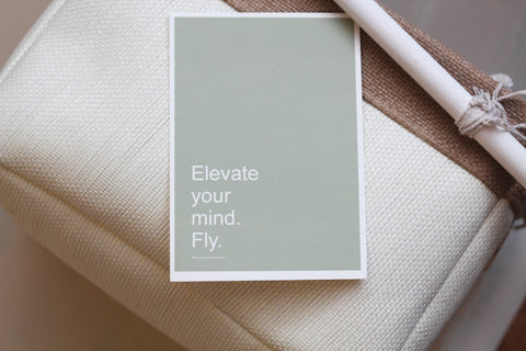 ELEVATE Affirmation Card//Yoga Spiritual Gift-Meditation Quote