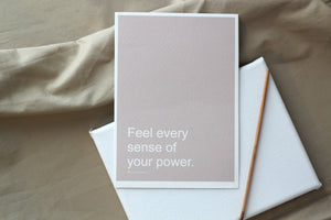 FEEL POWER Affirmation Card//Motivational Quote
