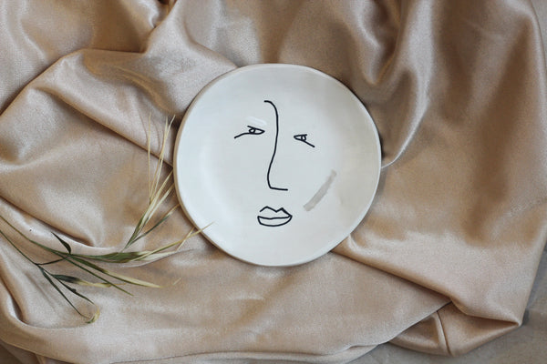 HER LINE ILLUSTRATED MINI CLAY DISH || Jewellery Plate
