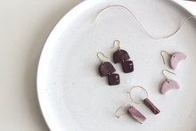 Load image into Gallery viewer, Kaiyah // Rustic Chocolate Clay Dangle Earrings