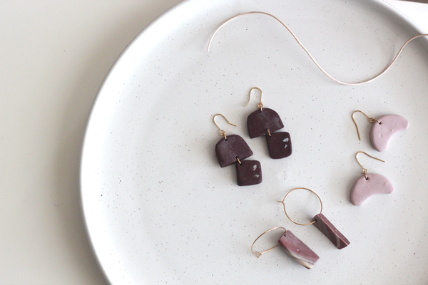 Kaiyah // Rustic Chocolate Dangle Earrings