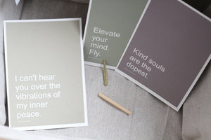 AFFIRMATION CARDS - Set of 3 // Yoga Motivational Quote