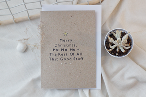 MERRY CHRISTMAS // A6 Greeting Card