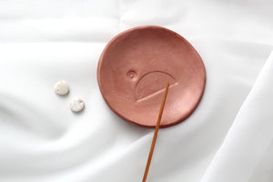 MINI TERRACOTTA CLAY TRINKET DISH || Halfmoon Ring Bowl
