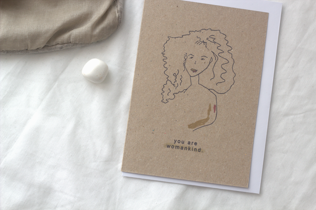 WOMAN EMPOWERMENT // A6 Greeting Card