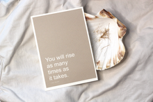 Load image into Gallery viewer, YOU WILL RISE Affirmation Card// Words Of Encouragement