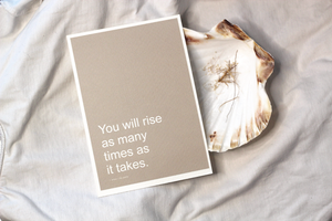YOU WILL RISE Affirmation Card// Words Of Encouragement