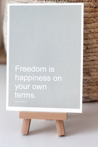 FREEDOM Affirmation Card//Motivational Quotes