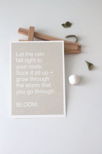 BLOOM Affirmation Card// Words Of Encouragement