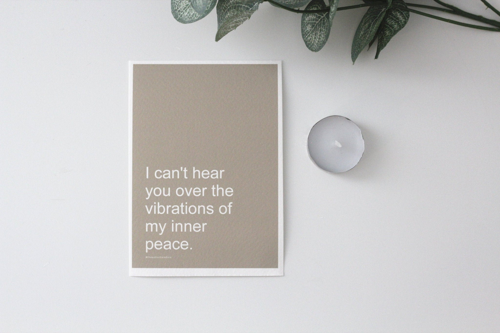 INNER PEACE Affirmation Card//Spiritual Meditation Quote