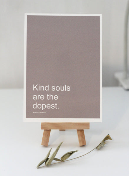 KIND SOULS Affirmation Card//Motivational Quote