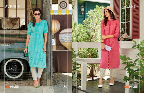 100 Miles Avenue Cotton Casual Daily Wear Kurties Collection