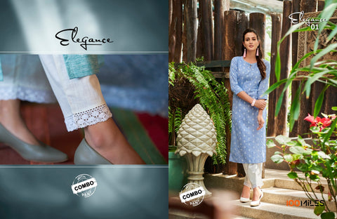 100 MILES BRINGS ELEGANCE COTTON KURTI COLLECTION WITH PANT