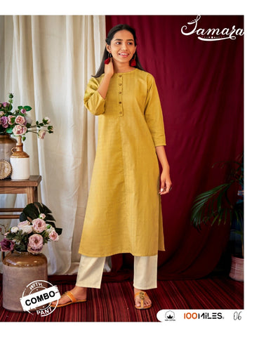 100 miles Samara Cotton Casual Daily Wear Kurties Collection