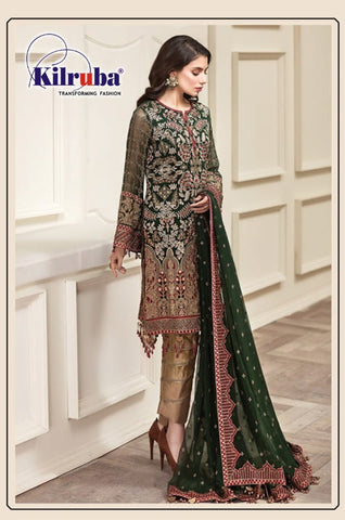 Kilruba Georgette With Beautiful Zari Resham Pakistani Salwar Kameez