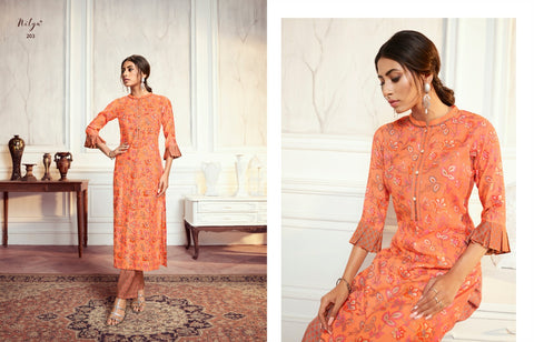 Lt Fabric Aahna Vol 2 Fancy Kurti With Plazoo Collection