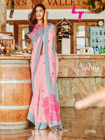 Lt Fabrics Aashna Linen Designer Fancy Saree Collection