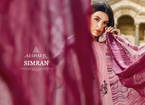 ADINATH PRINTS LAUNCHES SIMRAN CAMBRIC COTTON FABRIC SALWAR SUIT