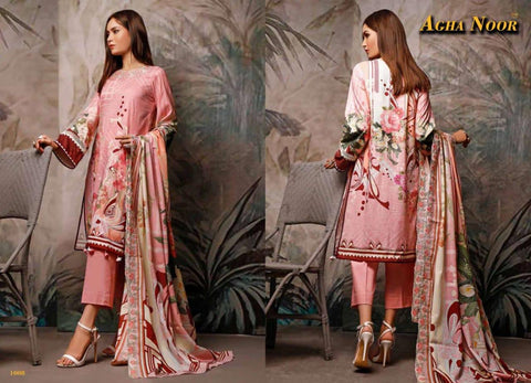 Agha Noor Luxury Lawn Cotton Fancy Designer Salwar Suit