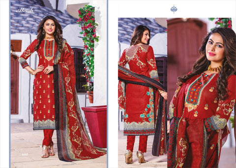 Akash Creation Noor E Sabnam Pure Cotton Casual Wear Salwar Suit