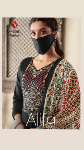 Tanisihk Fashion Present Alifa Vol 2 Embroidery Work Salwar Kameez Collection