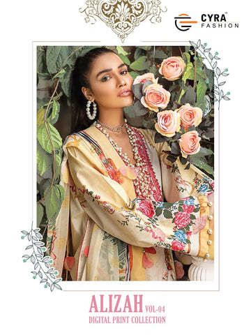 Cyra Fashion Alizah Vol 4 Jam Cotton Embroidery Work Pakistani Suits