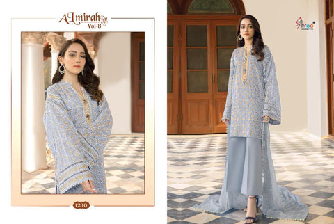Shree Fabs Almirah Vol 8 Cotton Embroidery Karachi Work Pakistani Collection